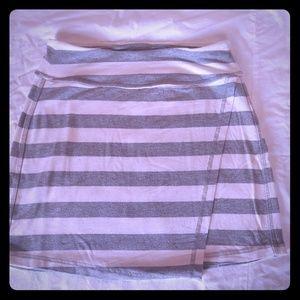 Athleta striped mini skirt xxs
